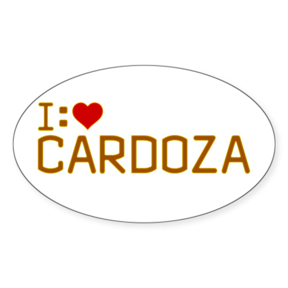 I Heart Cardoza Oval Sticker
