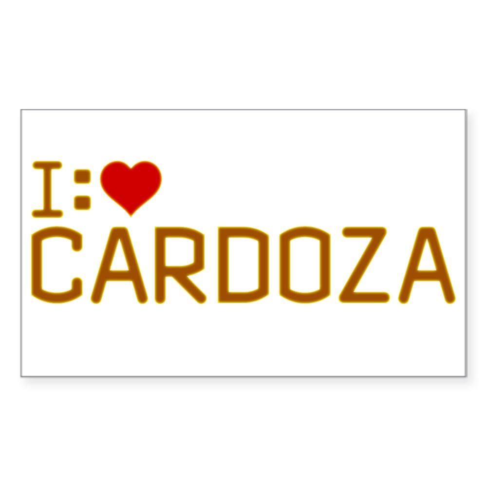 I Heart Cardoza Rectangle Sticker