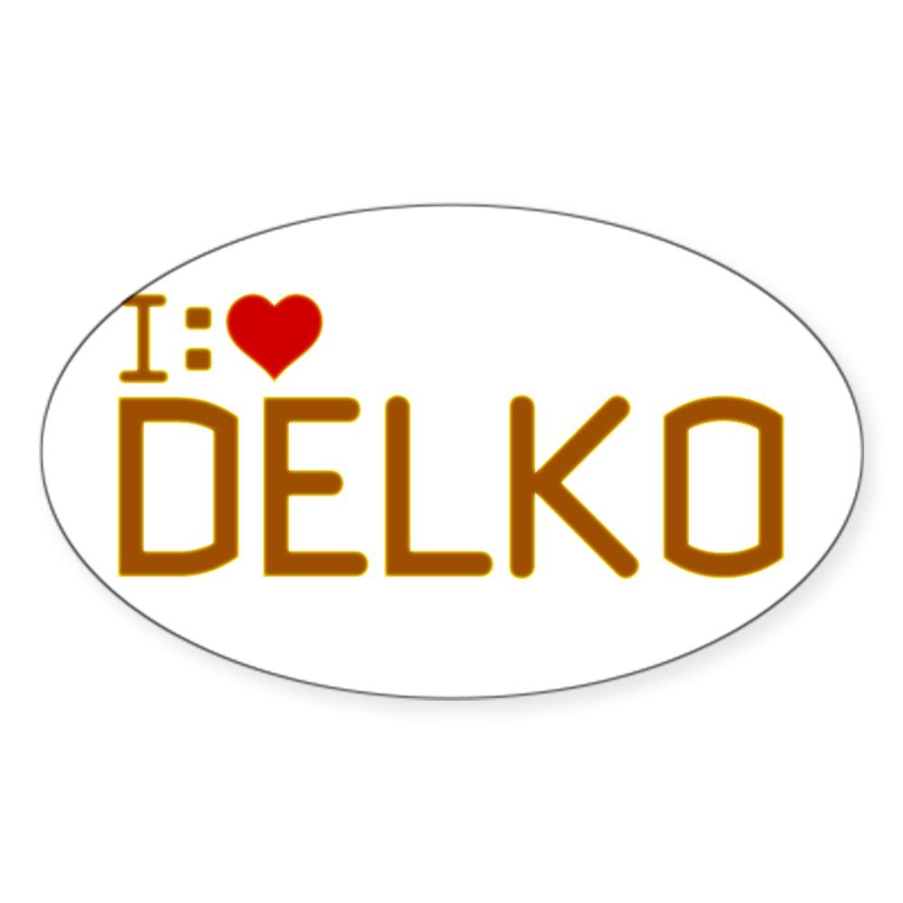 I Heart Delko Oval Sticker