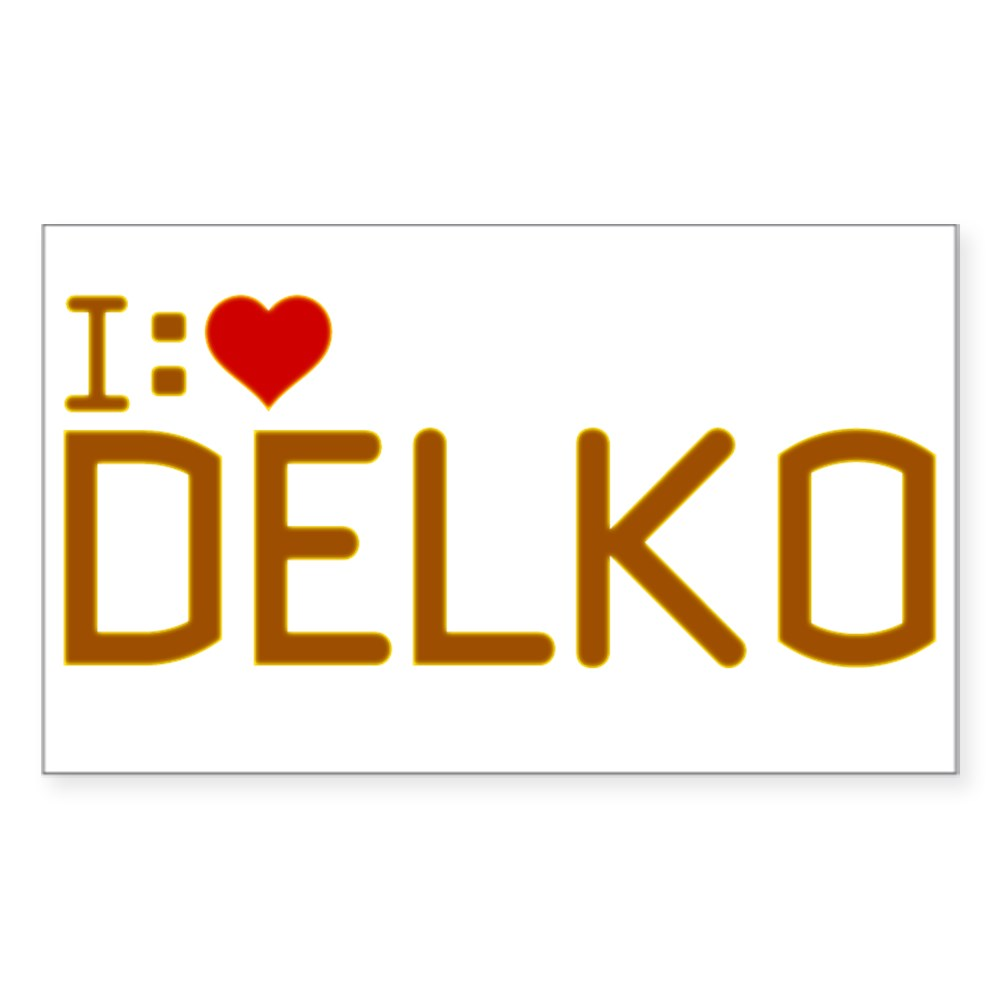 I Heart Delko Rectangle Sticker