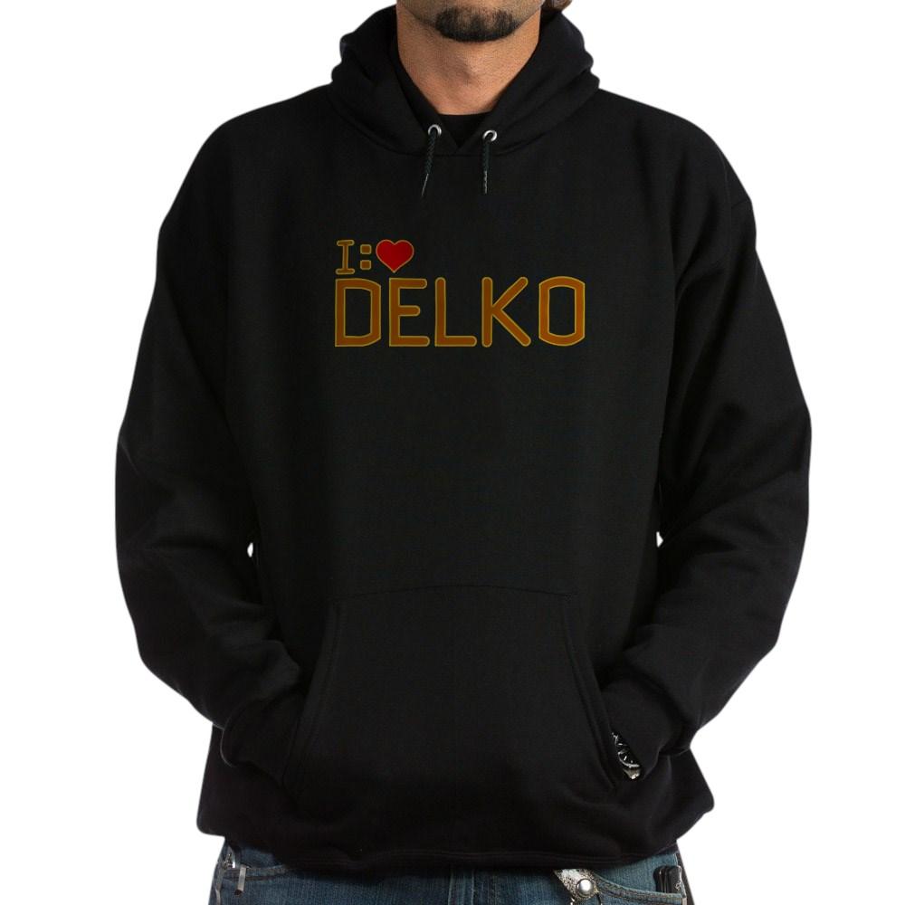 I Heart Delko Dark Hoodie