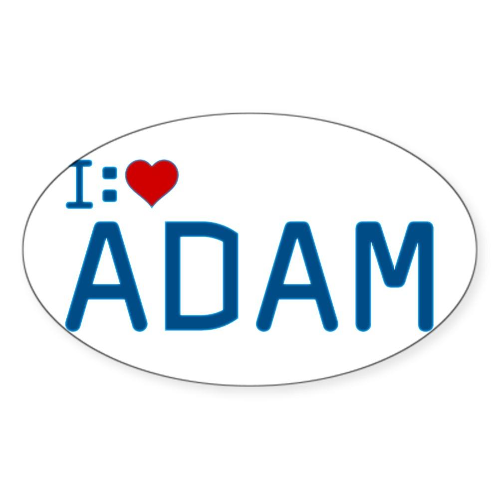 I Heart Adam Oval Sticker