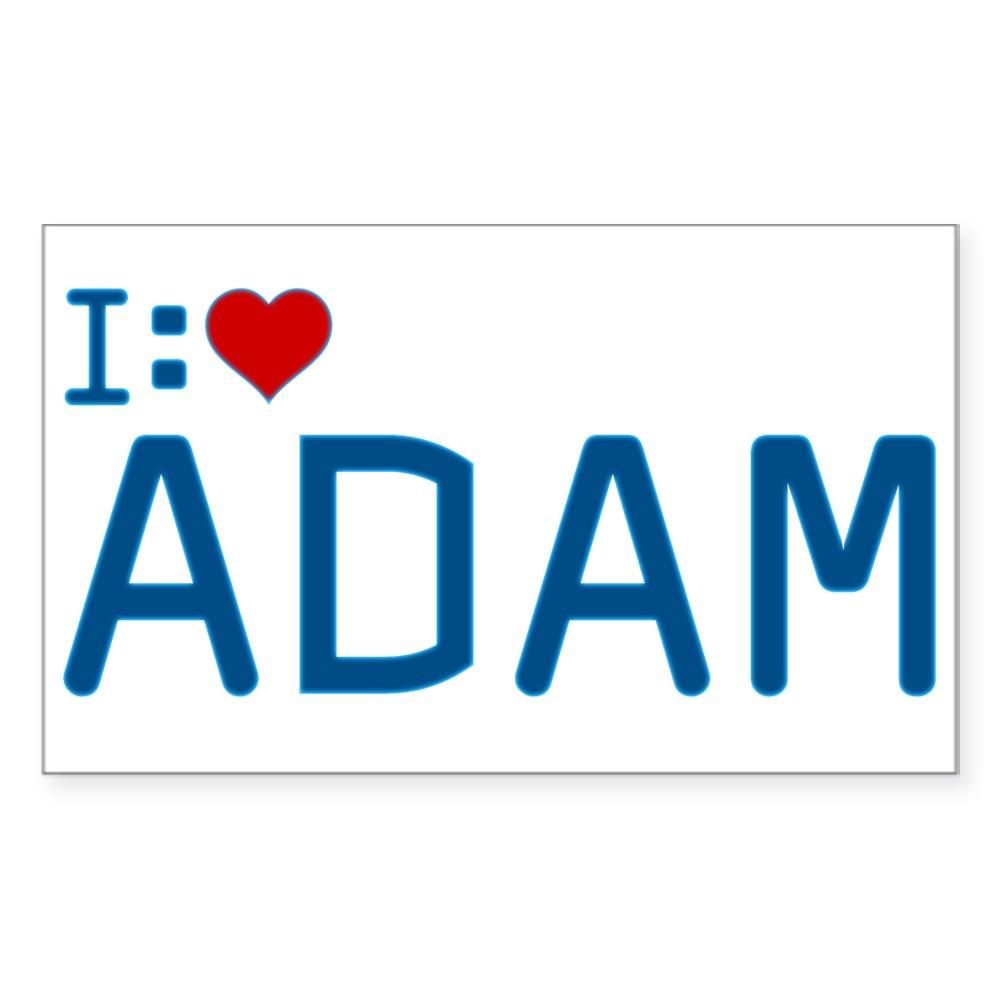 I Heart Adam Rectangle Sticker