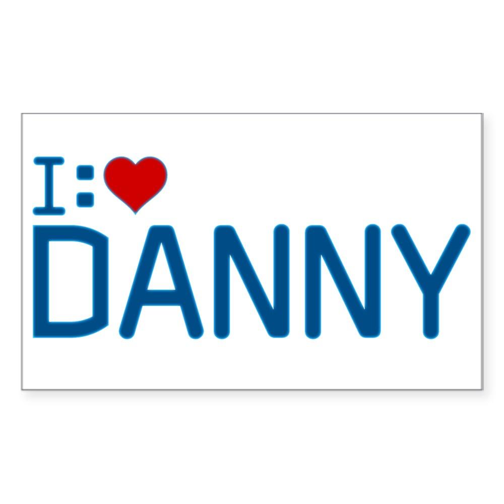 I Heart Danny Rectangle Sticker