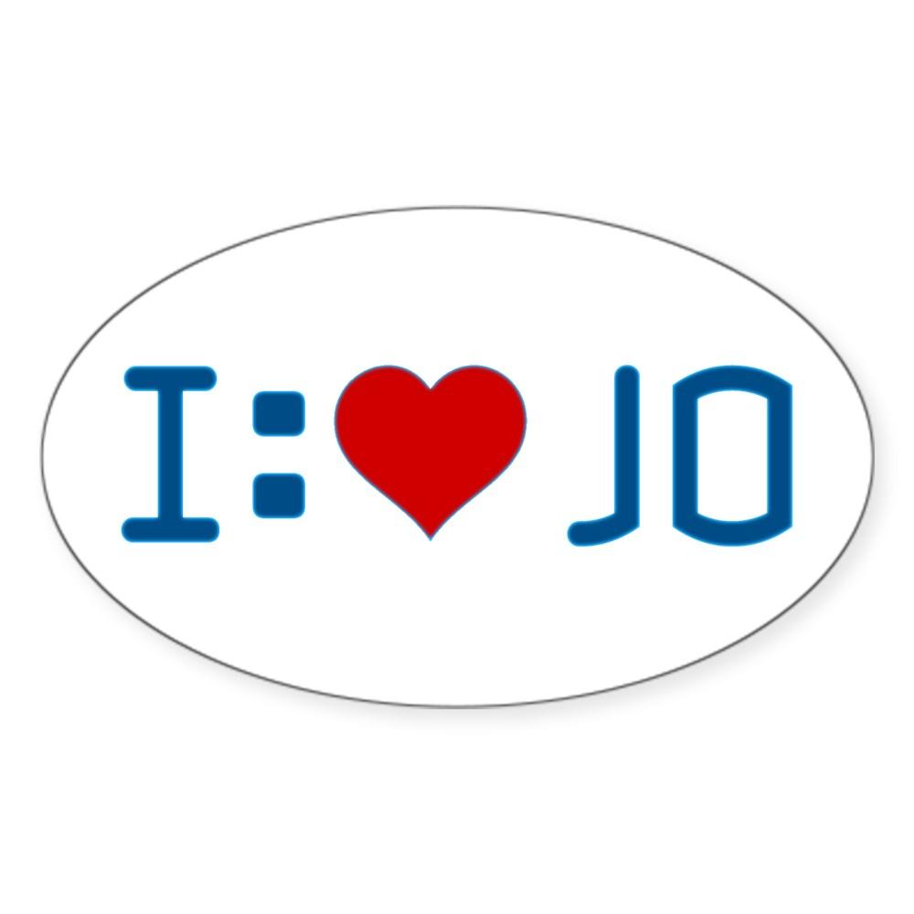 I Heart Jo Oval Sticker
