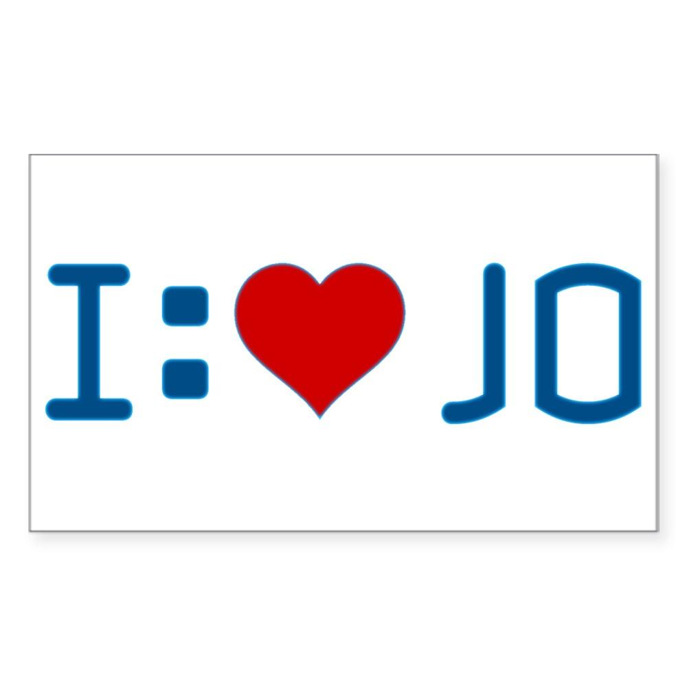 I Heart Jo Rectangle Sticker