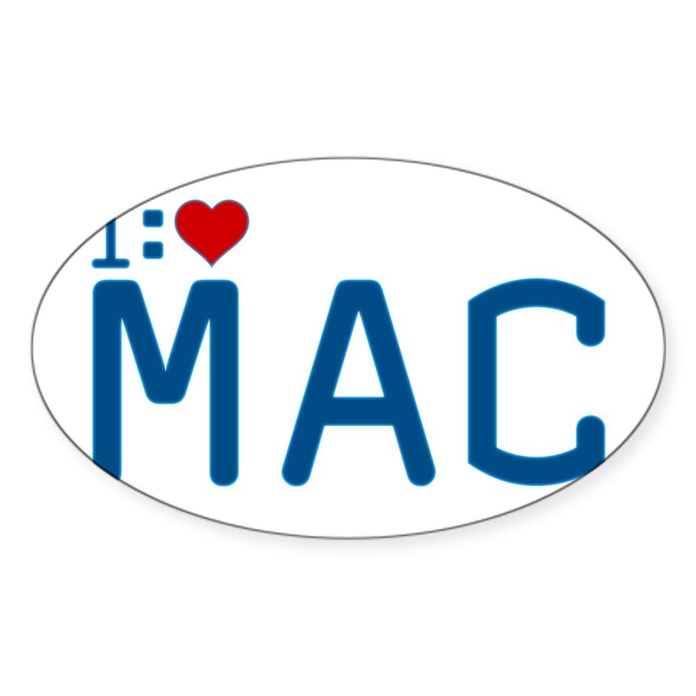 I Heart Mac Oval Sticker