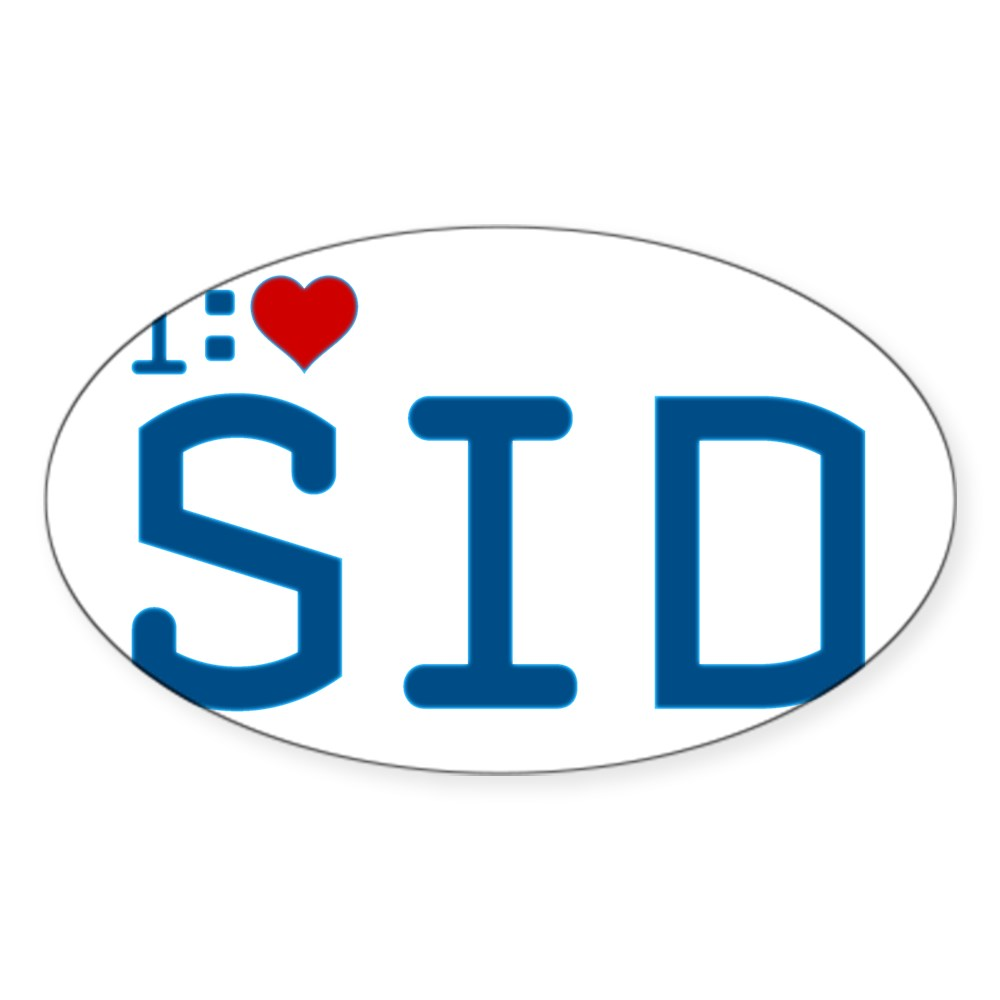 I Heart Sid Oval Sticker