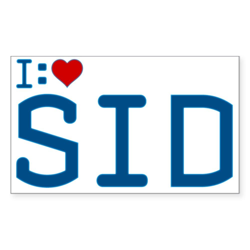I Heart Sid Rectangle Sticker