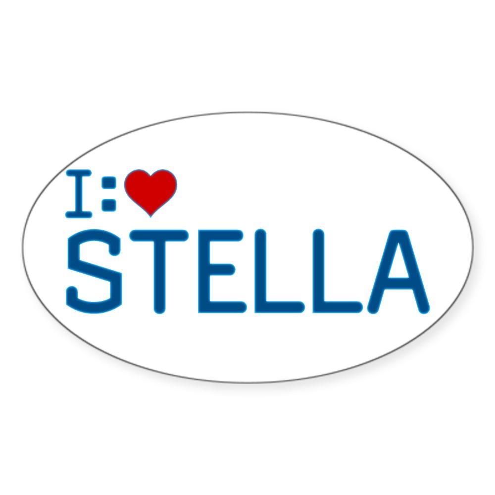 I Heart Stella Oval Sticker