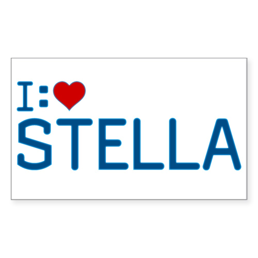 I Heart Stella Rectangle Sticker