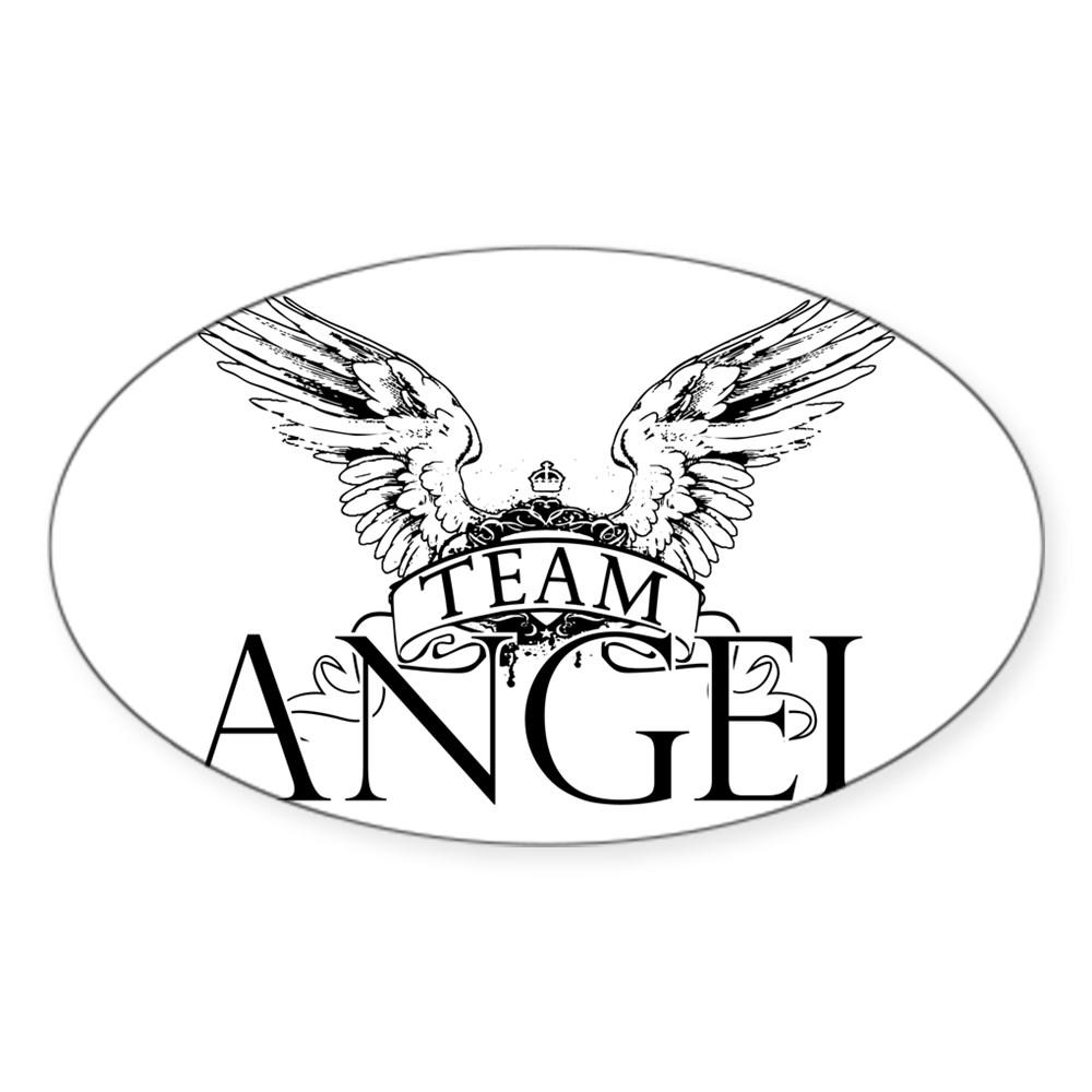 Team Angel Oval Sticker