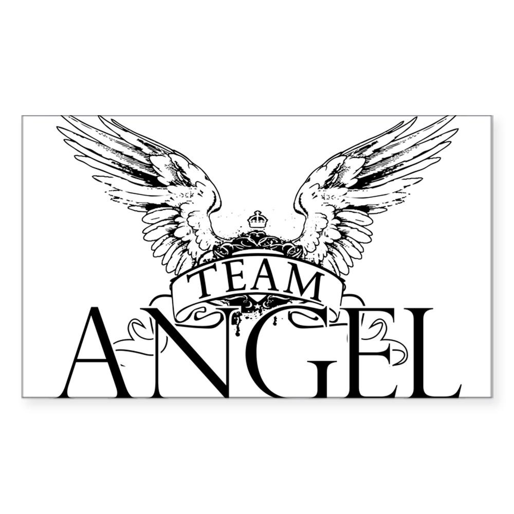 Team Angel Rectangle Sticker