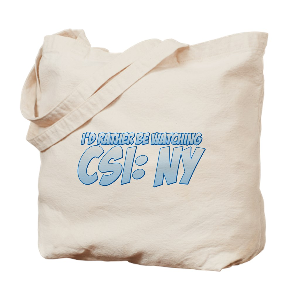 I'd Rather Be Watching CSI: NY Tote Bag
