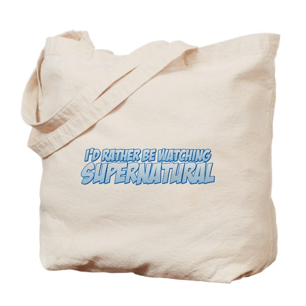 I'd Rather Be Watching Supernatural Tote Bag