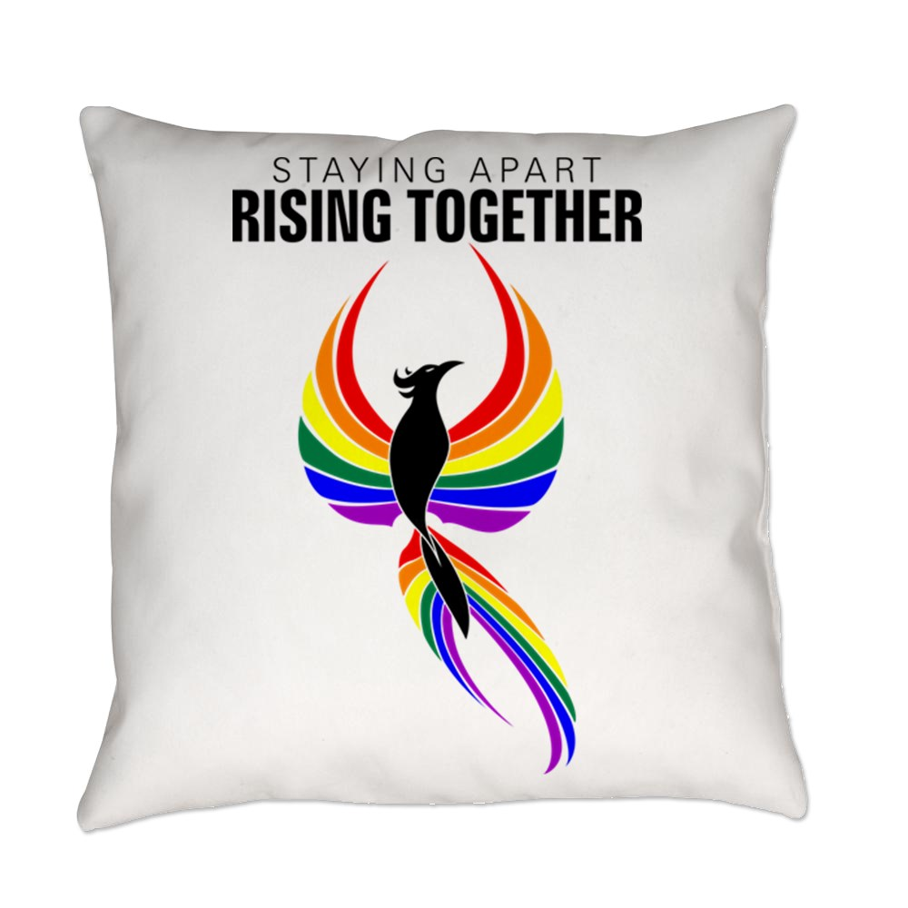 Staying Apart Rising Together LGBTQ Phoenix Everyday Pillow