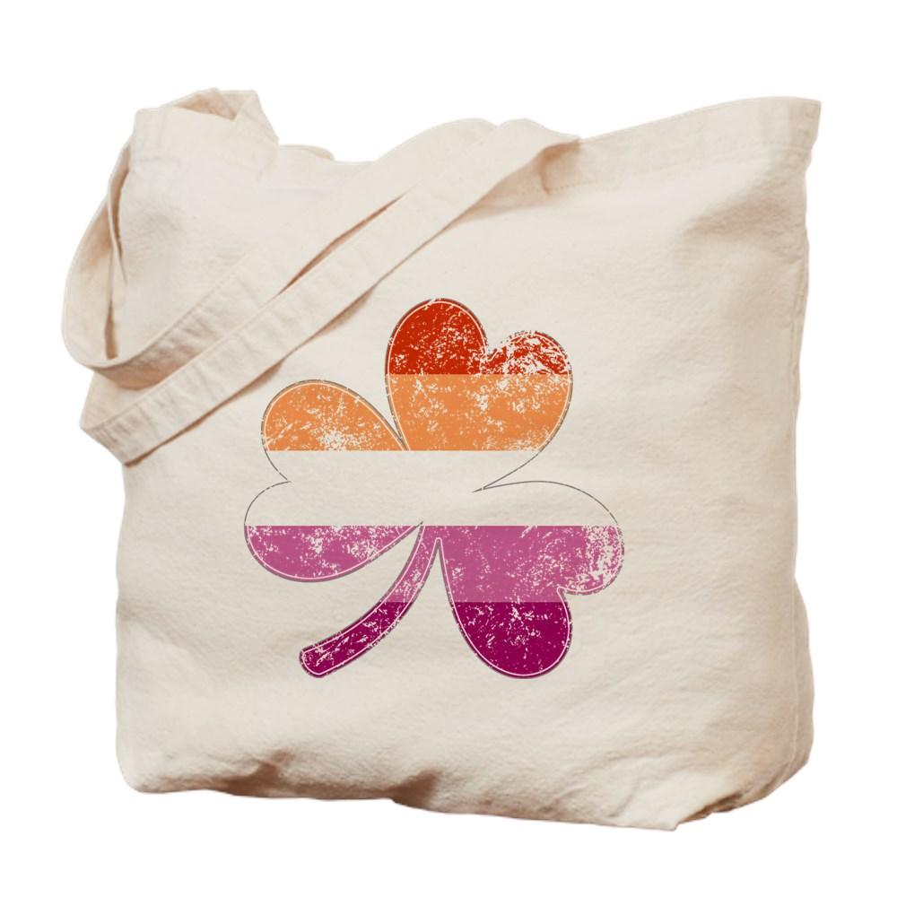 Lesbian Shamrock Pride Flag Tote Bag