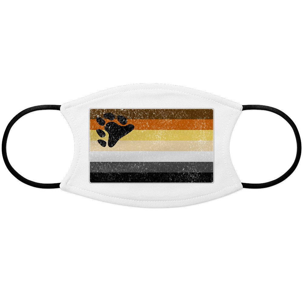 Distressed Gay Bear Pride Flag Face Mask
