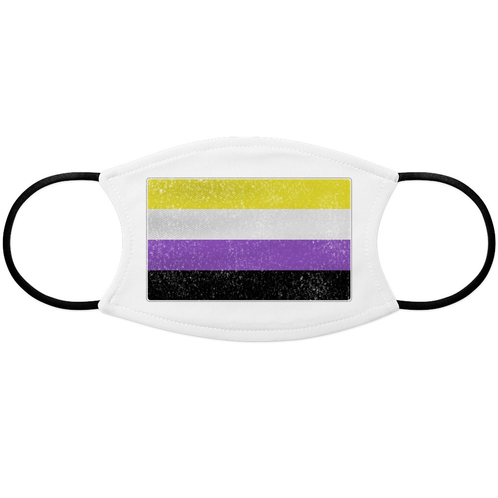 Distressed Nonbinary Pride Flag Face Mask