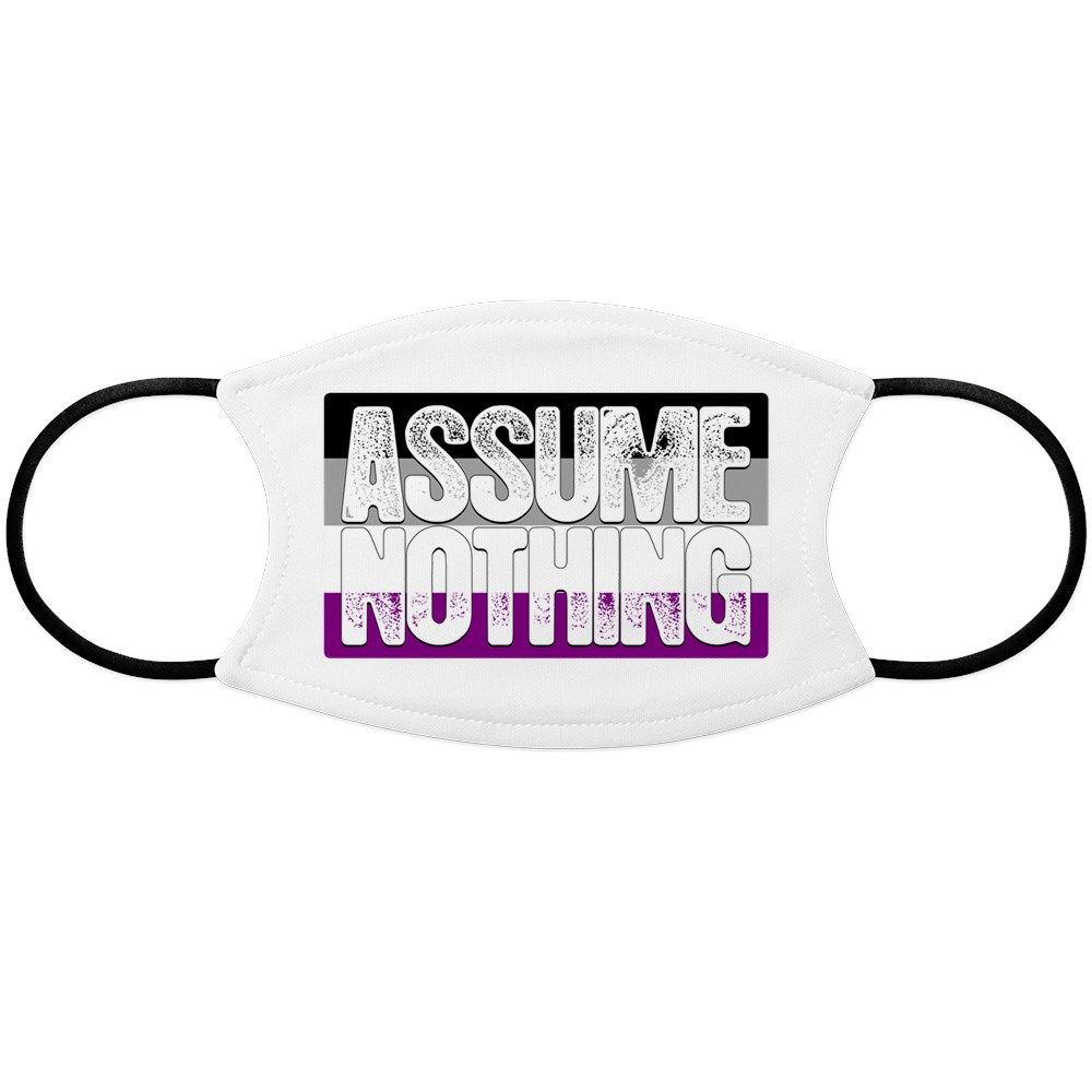 Assume Nothing Asexual Pride Flag Face Mask