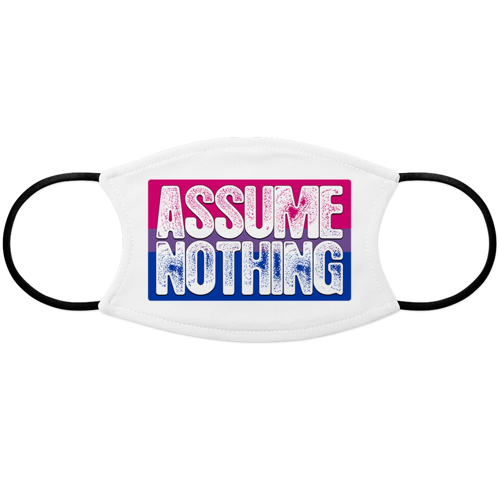 Assume Nothing Bisexual Pride Flag Face Mask