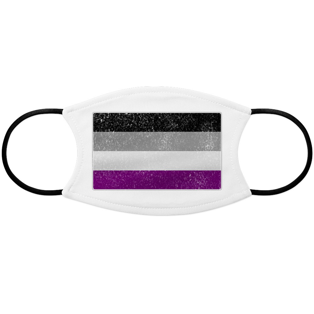 Distressed Asexual Pride Flag Face Mask