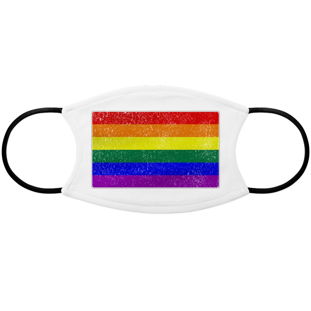 Distressed LGBT Gay Pride Flag Face Mask