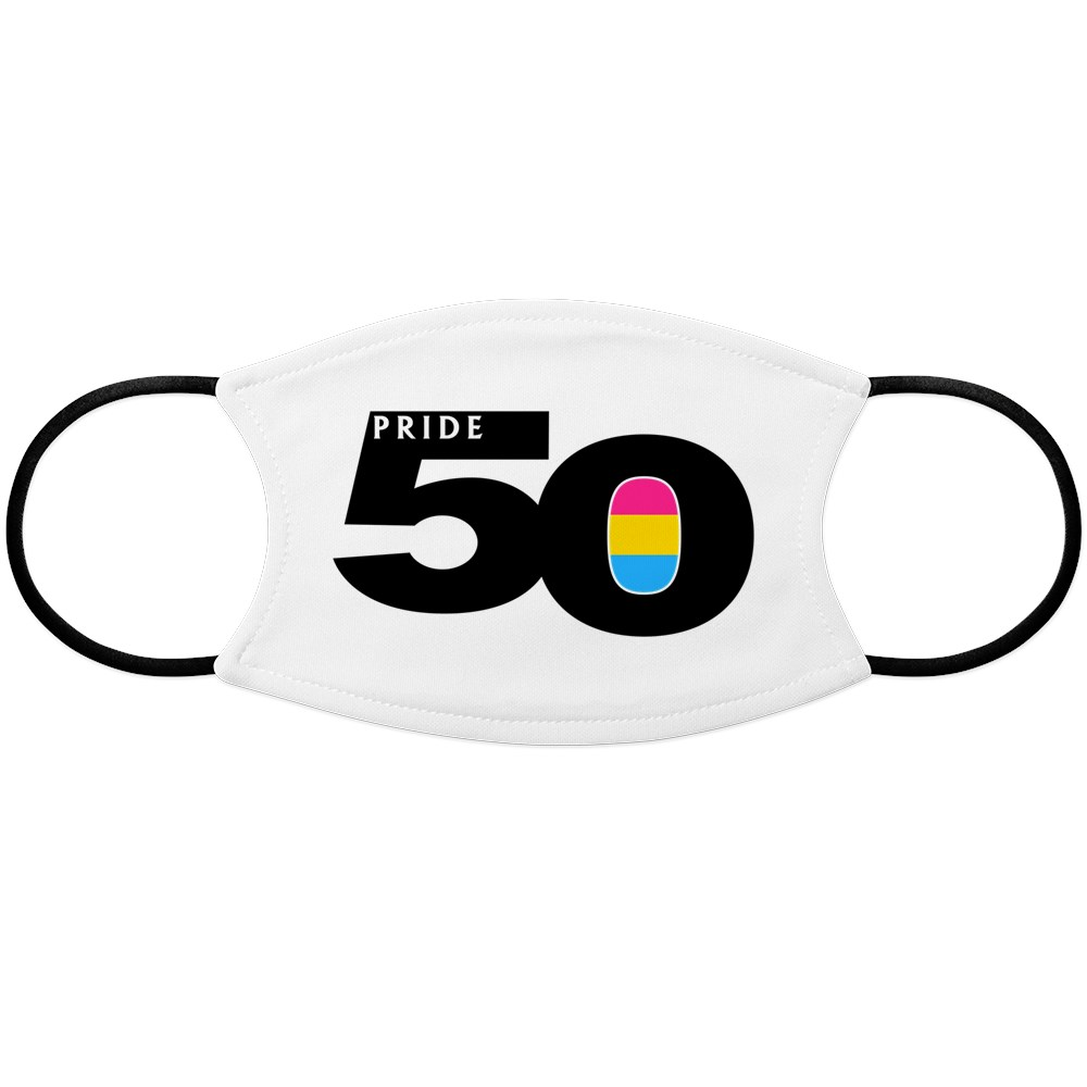 Pride 50 Pansexual Pride Flag Face Mask