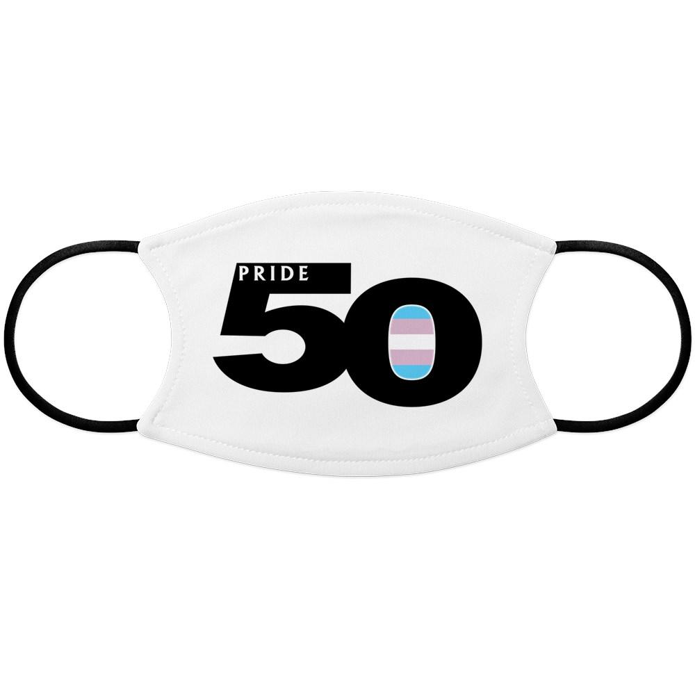 Pride 50 Transgender Pride Flag Face Mask