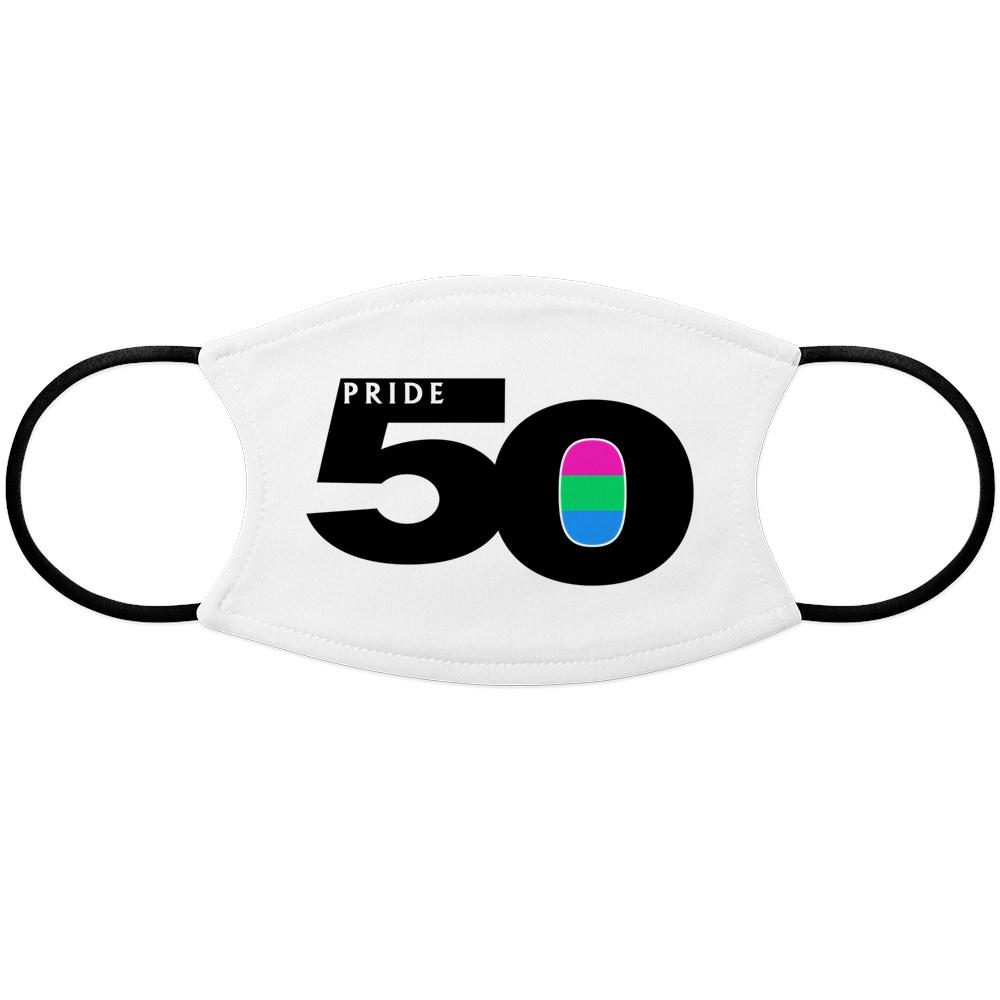 Pride 50 Polysexual Pride Flag Face Mask
