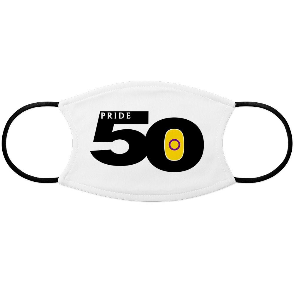 Pride 50 Intersex Pride Flag Face Mask