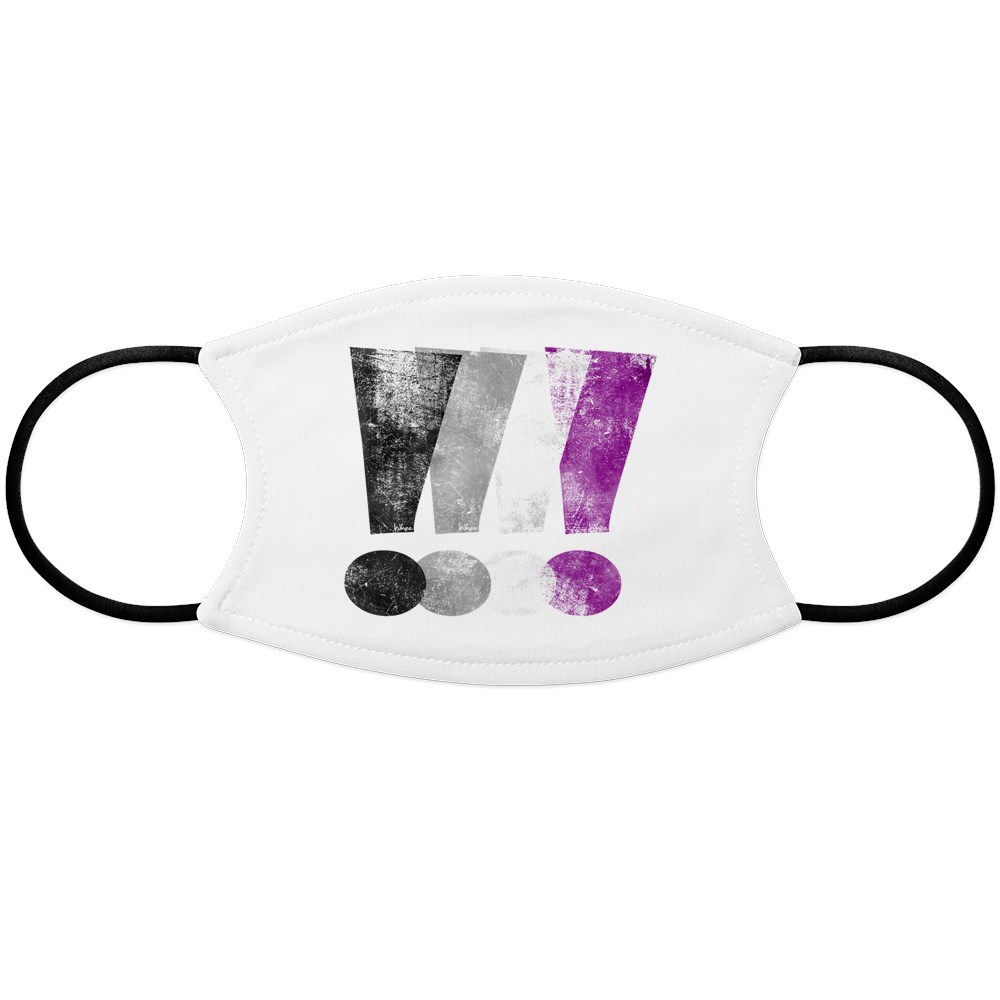 Distressed Asexual Pride Exclamation Points Face Mask