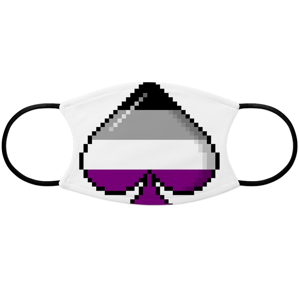 Asexual Pride Flag Pixel 8-Bit Ace Face Mask