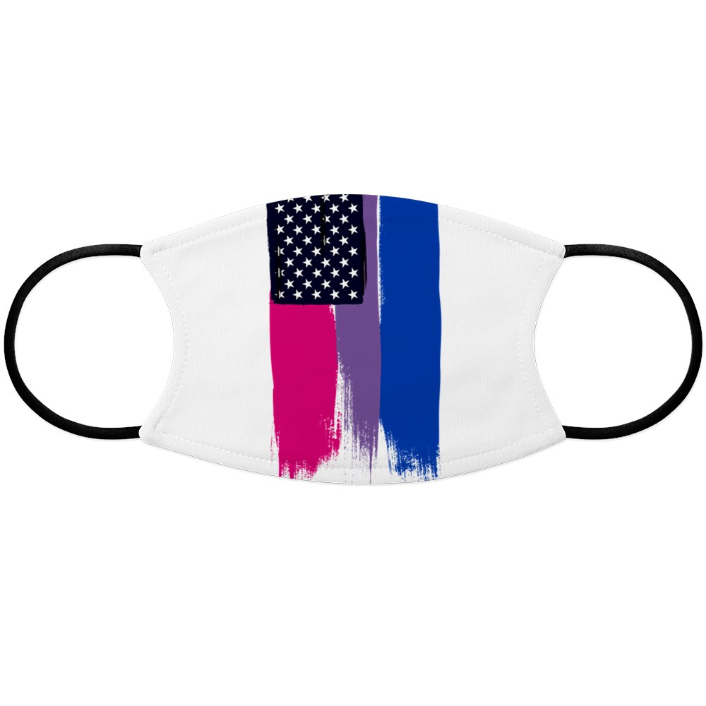 Bisexual Pride Stars and Stripes Flag Face Mask