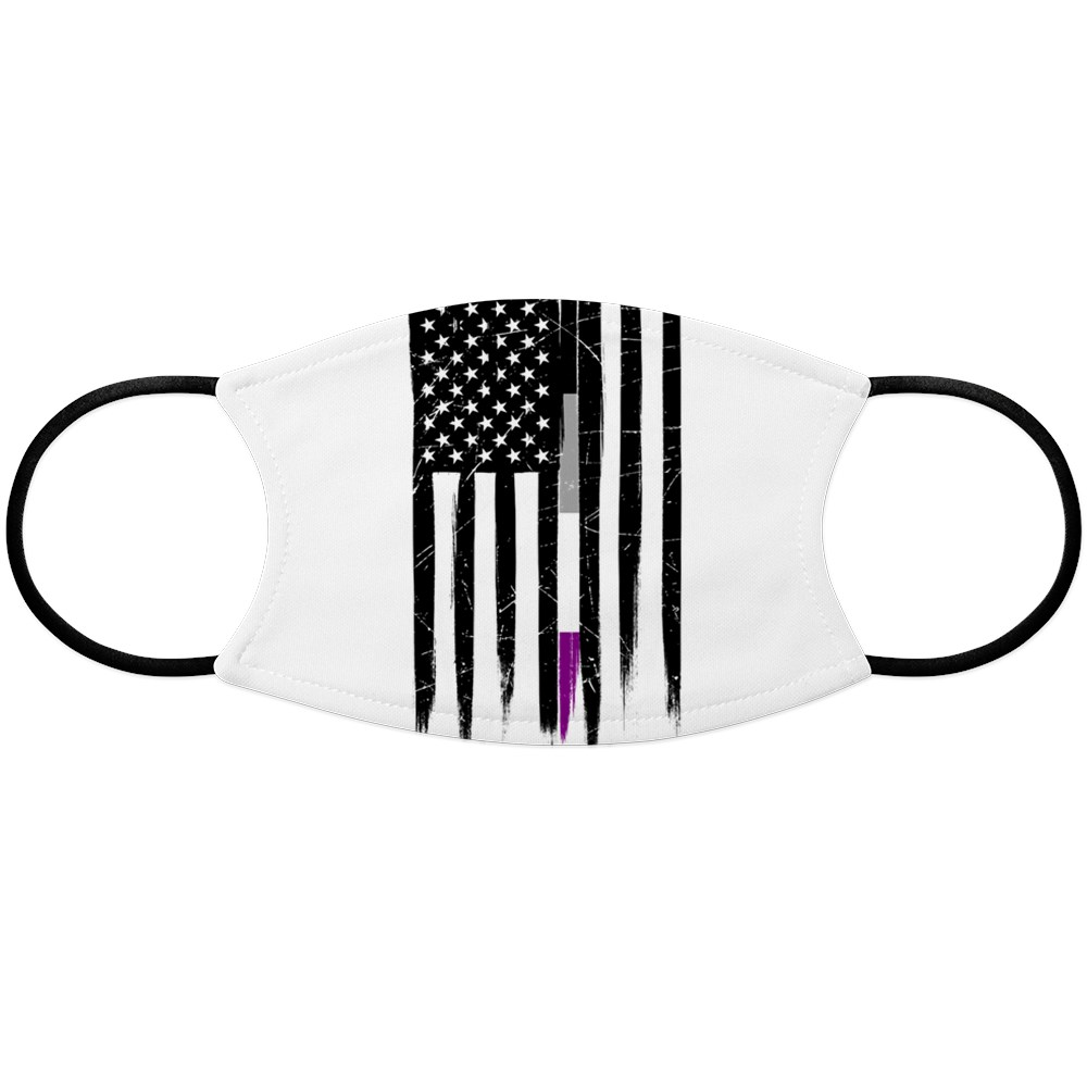 Asexual Pride Thin Line American Flag Face Mask