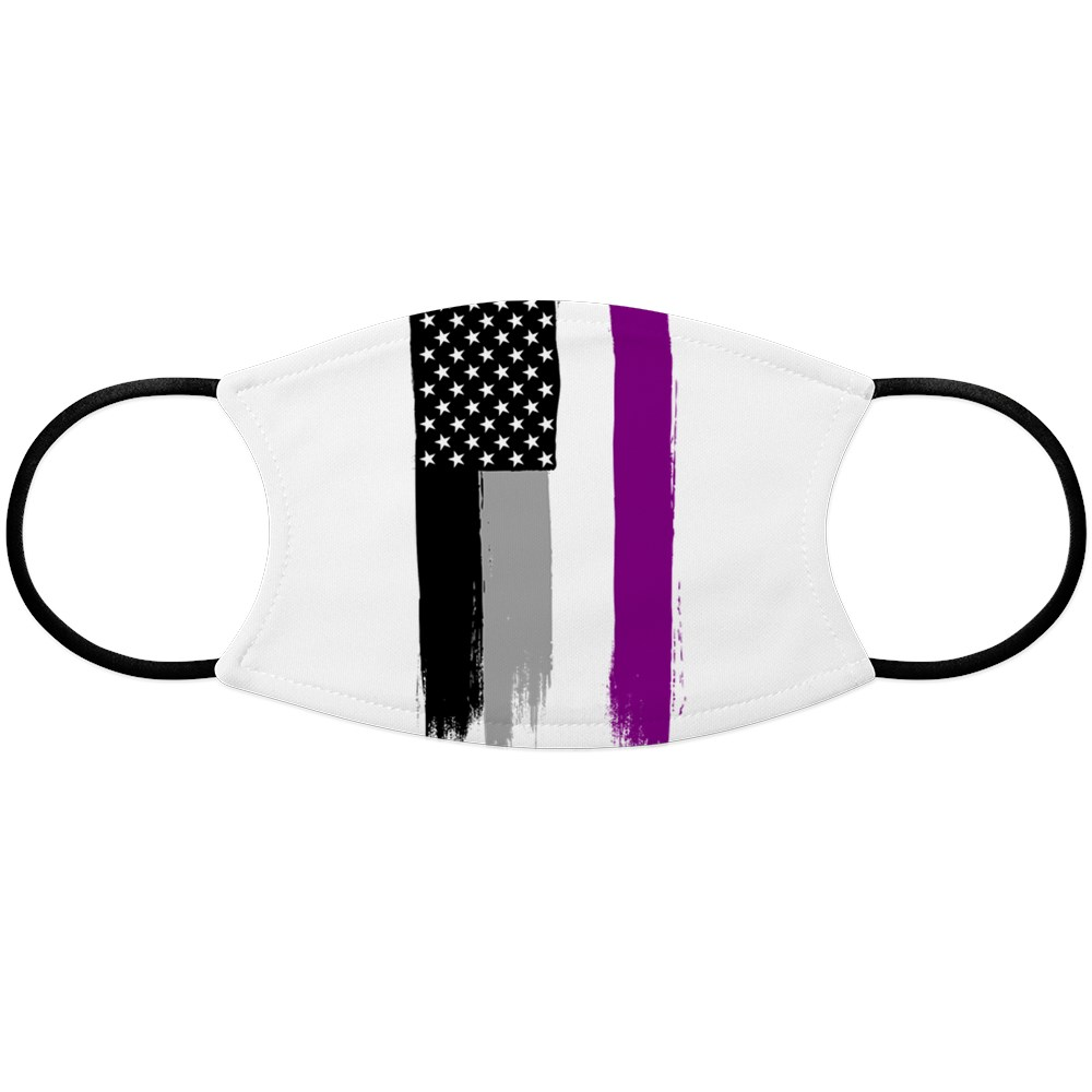 Asexual Pride Flag Stars and Stripes Flag Face Mask
