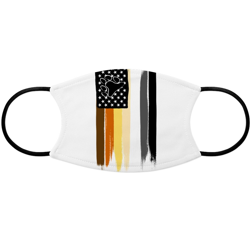 Gay Bear Pride American Flag Face Mask