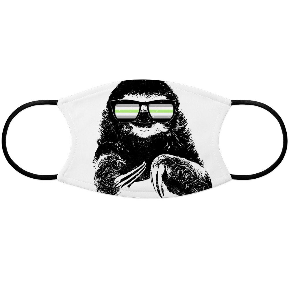Pride Sloth Agender Flag Sunglasses Face Mask