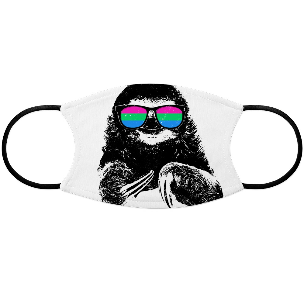 Pride Sloth Polysexual Flag Sunglasses Face Mask