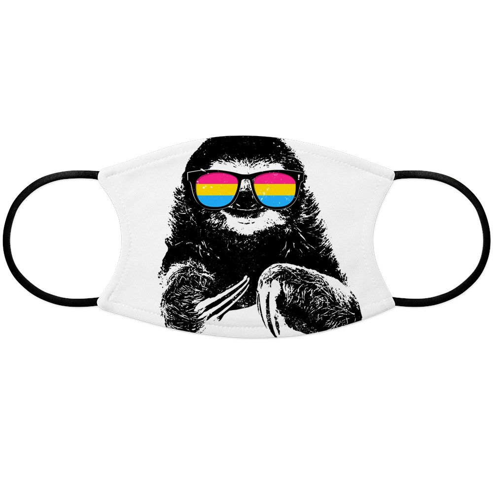Pride Sloth Pansexual Flag Sunglasses Face Mask