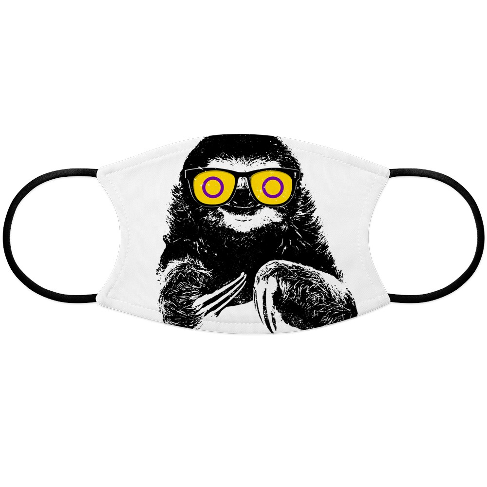 Pride Sloth Intersex Flag Sunglasses Face Mask