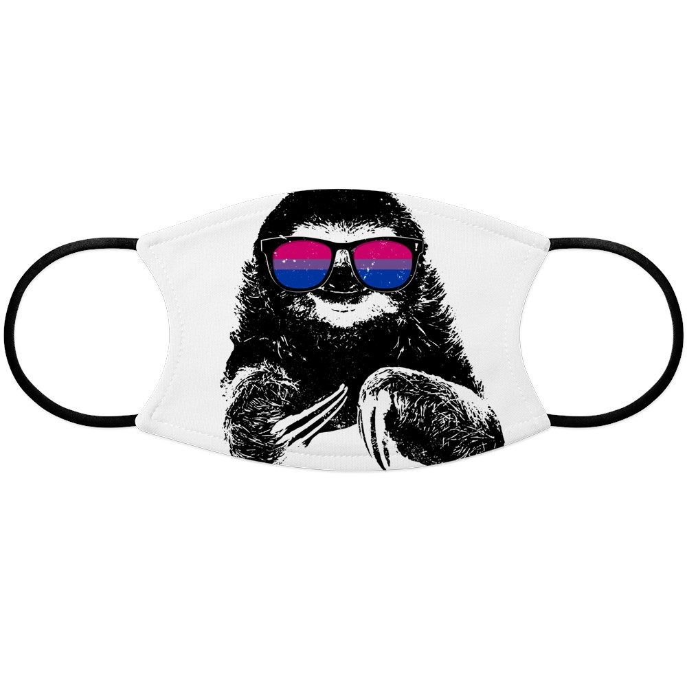 Pride Sloth Bisexual Flag Sunglasses Face Mask