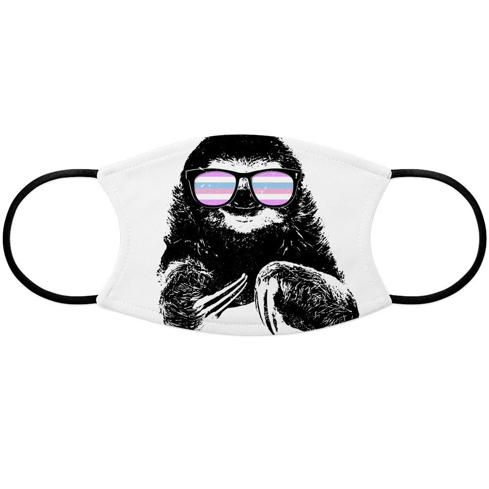 Pride Sloth Bigender Flag Sunglasses Face Mask