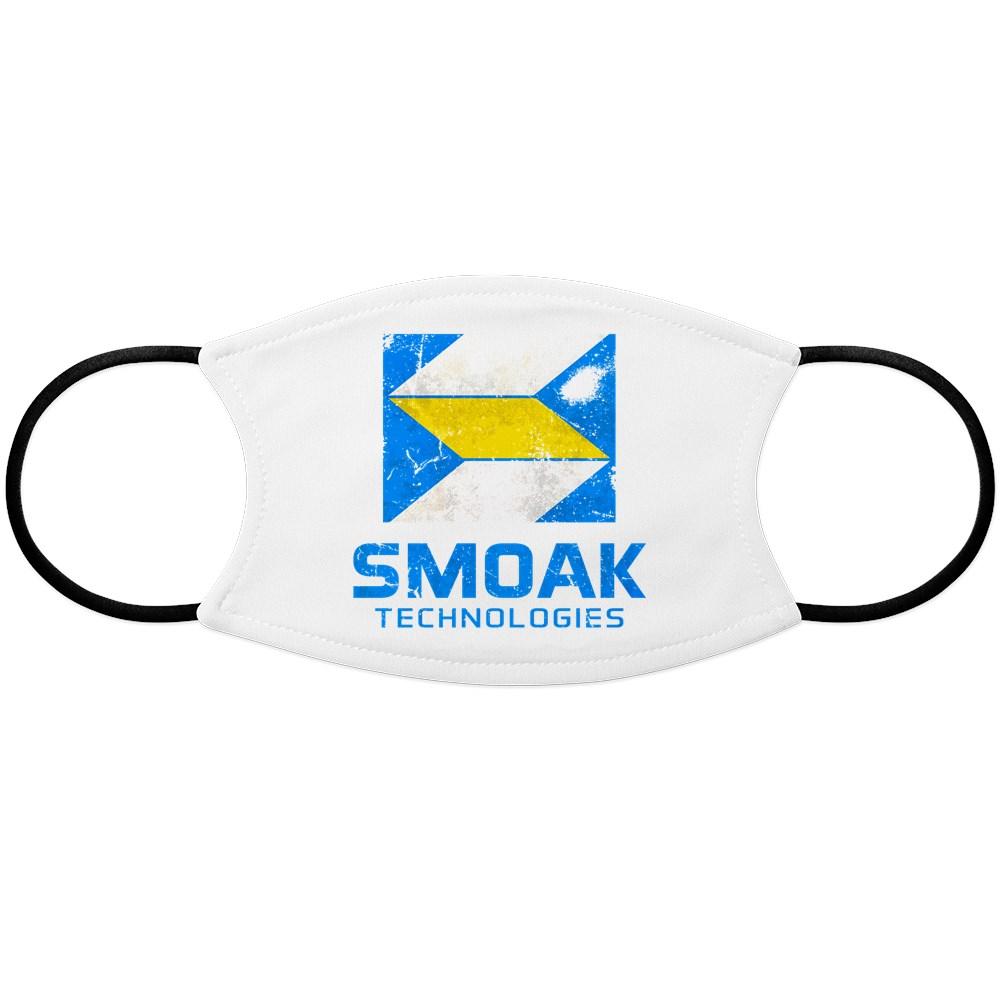 Distressed Smoak Technolgies Logo Face Mask