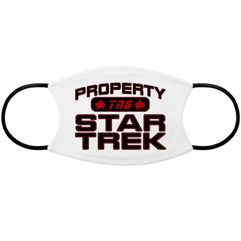 Red Property Star Trek - TNG Face Mask