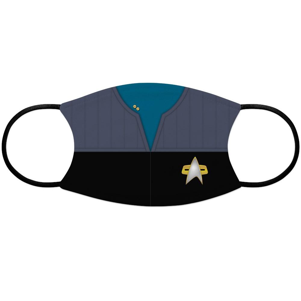DS9 Starfleet Uniform: Science/Medical - Lieutenant Face Mask
