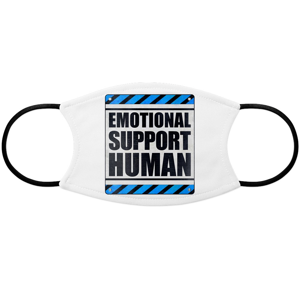 Emotional Support Human Face Mask