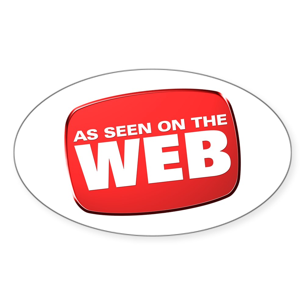 As Seen on the Web Oval Sticker