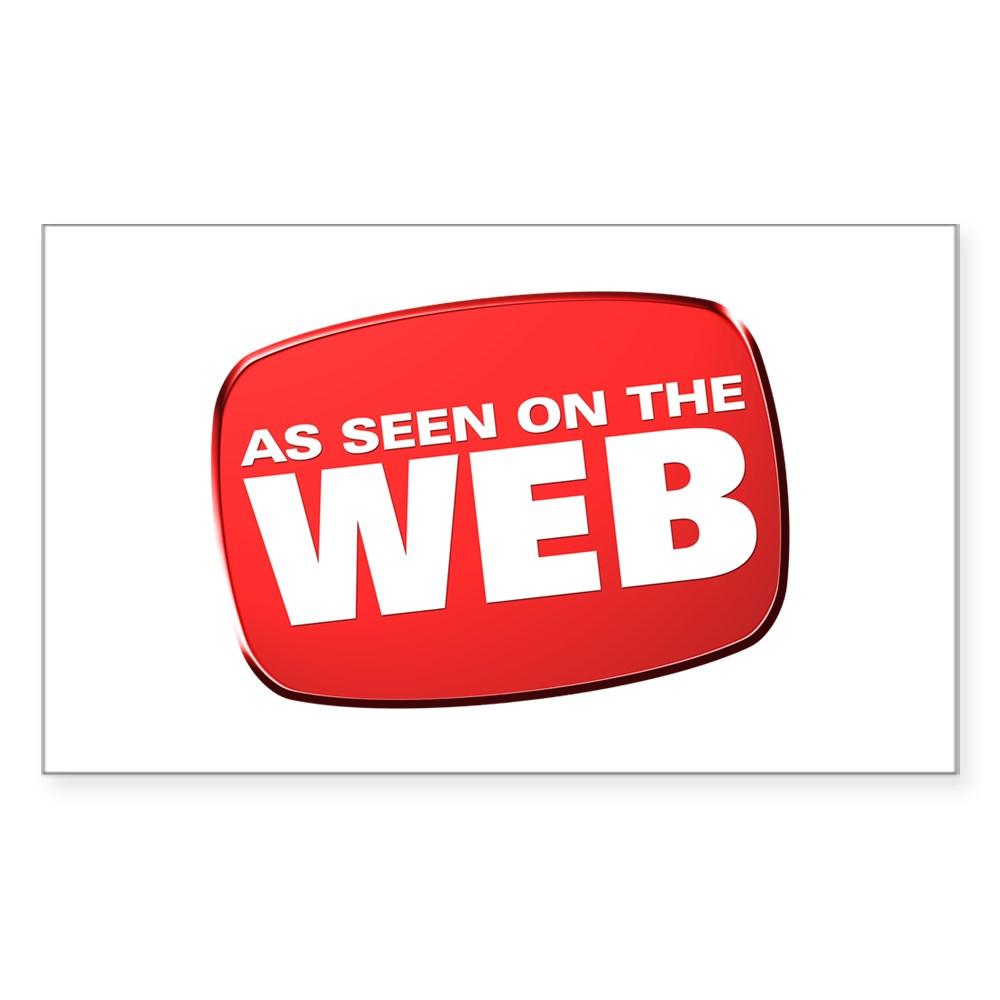 As Seen on the Web Rectangle Sticker