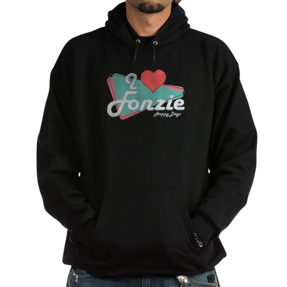 I Heart Fonzie Dark Hoodie